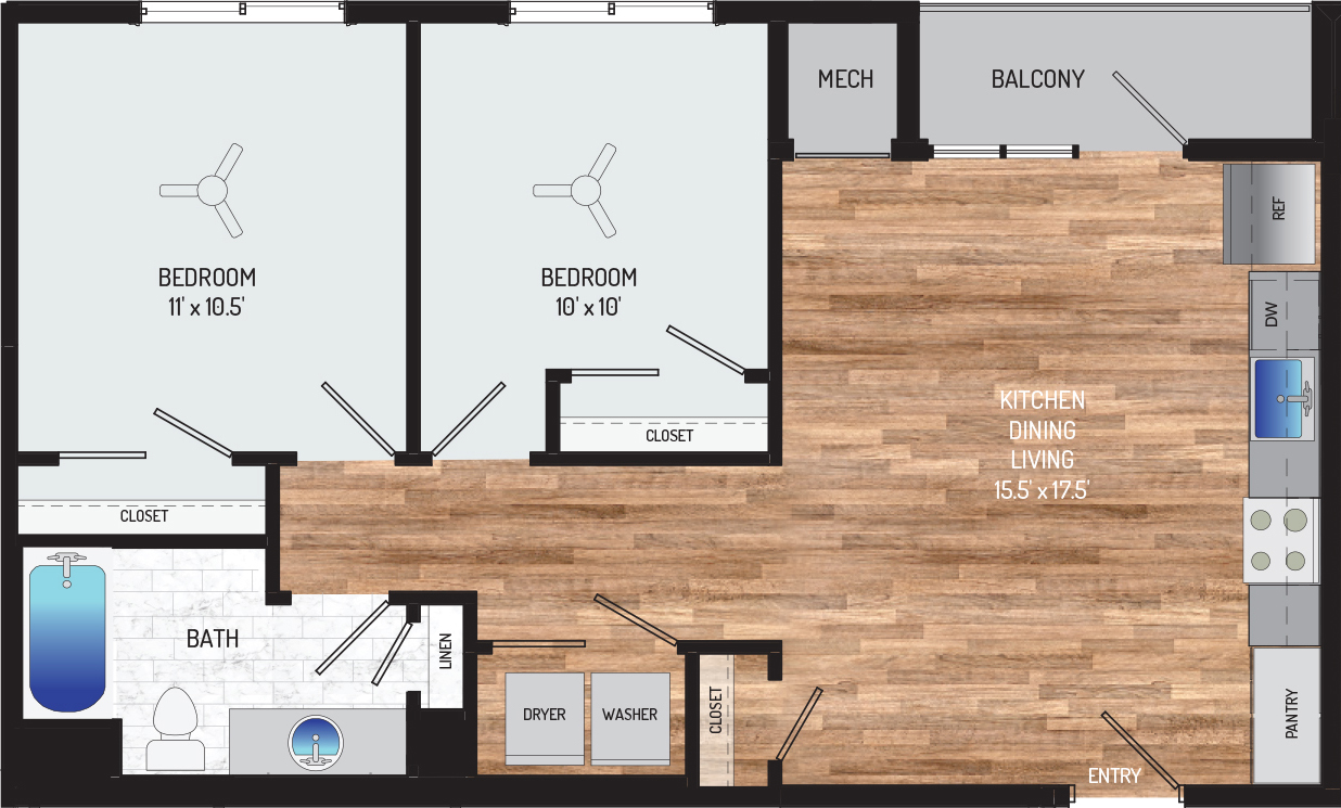 Flower Branch Apartments - Apartment 108701-102-ZD-1