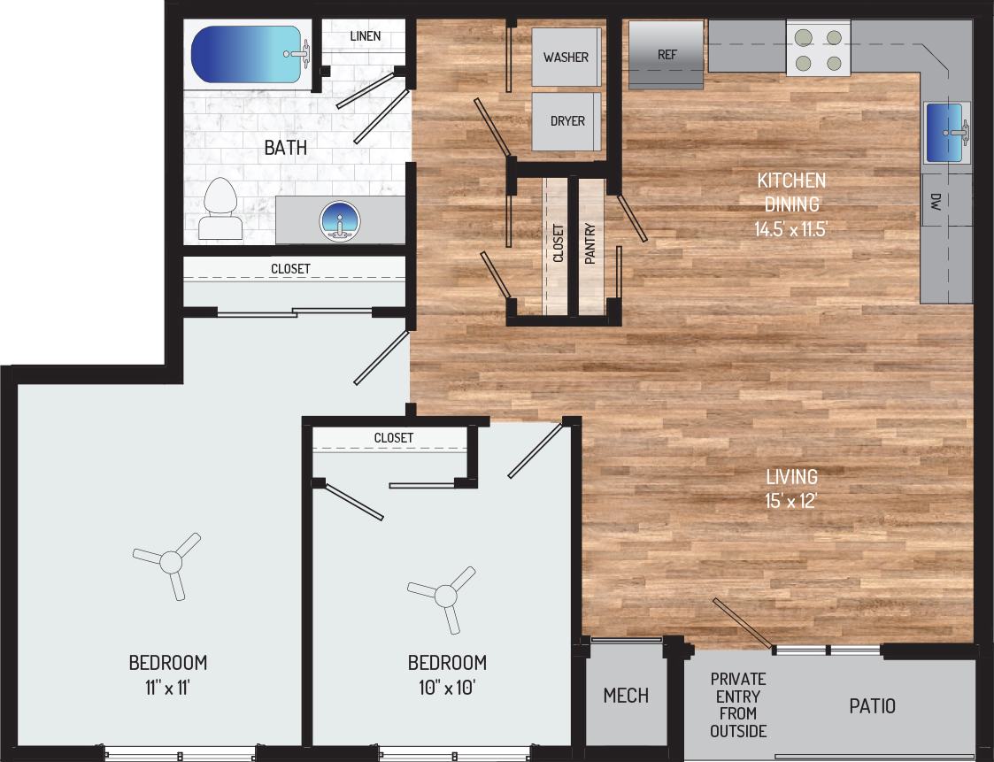 Flower Branch Apartments - Apartment 108703-012-ZF