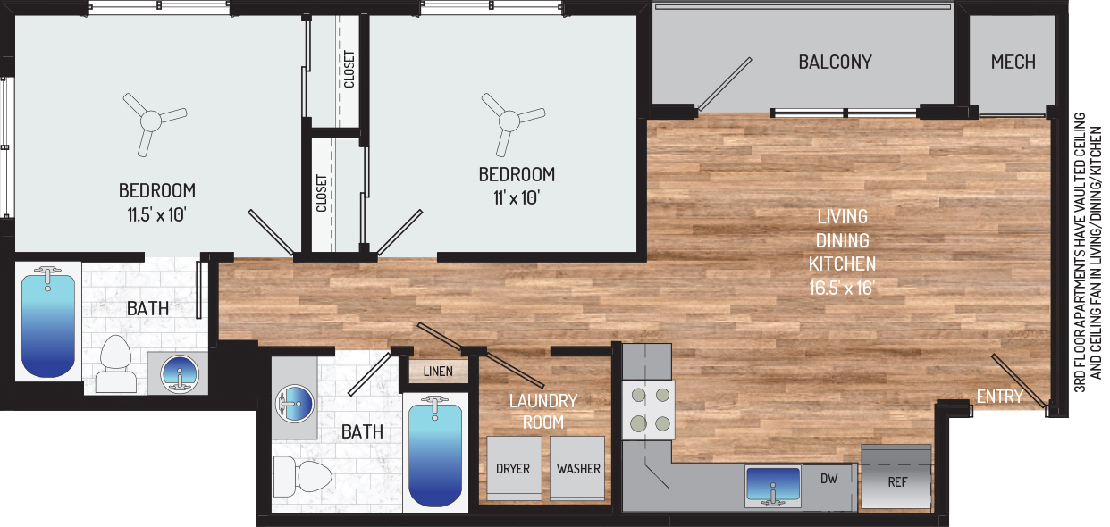 Flower Branch Apartments - Apartment 108701-204-ZH-1