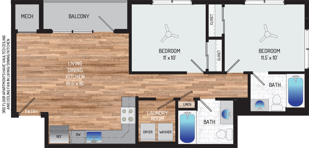 Flower Branch Apartments - Apartment 108703-301-ZH-2