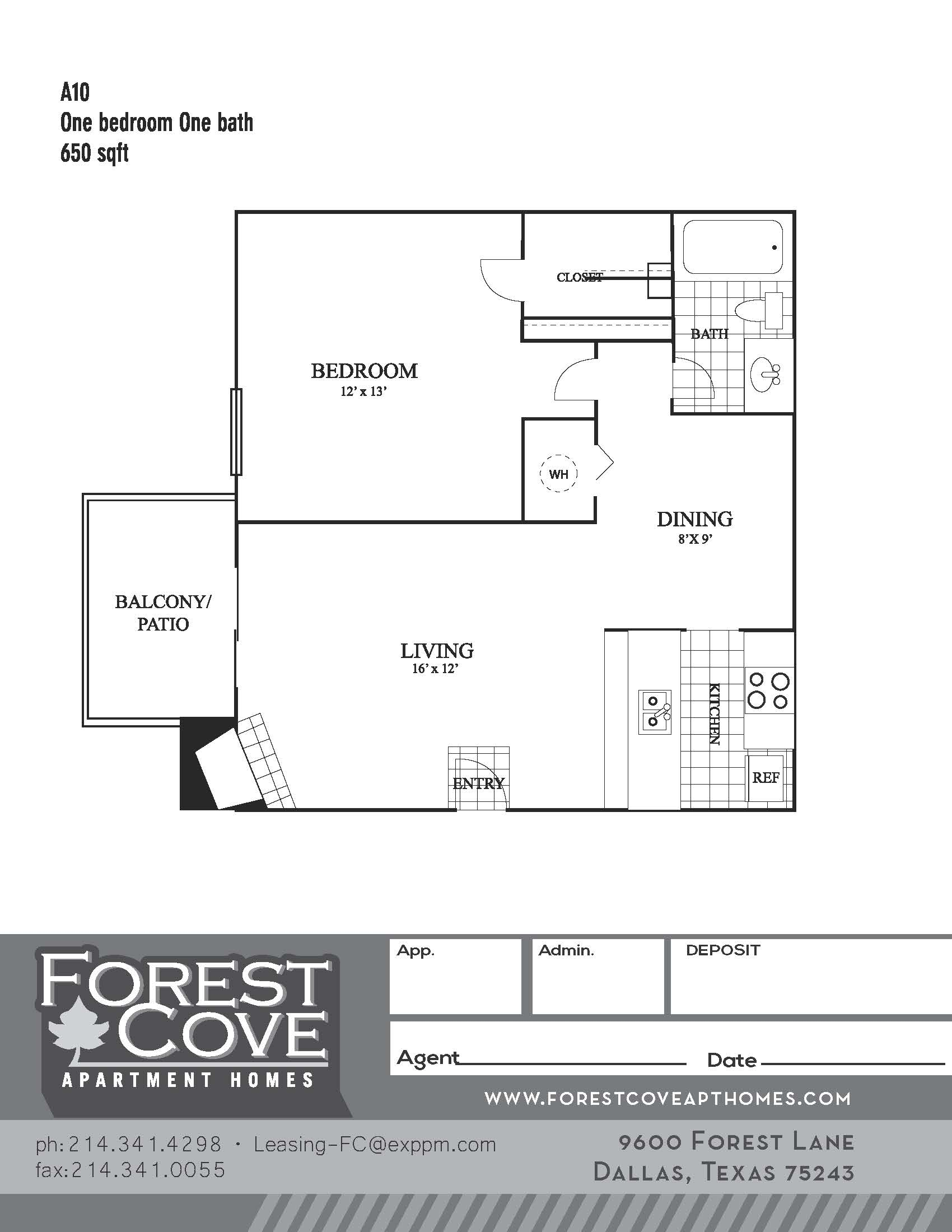 Forest Cove Apartments - Floorplan - A10