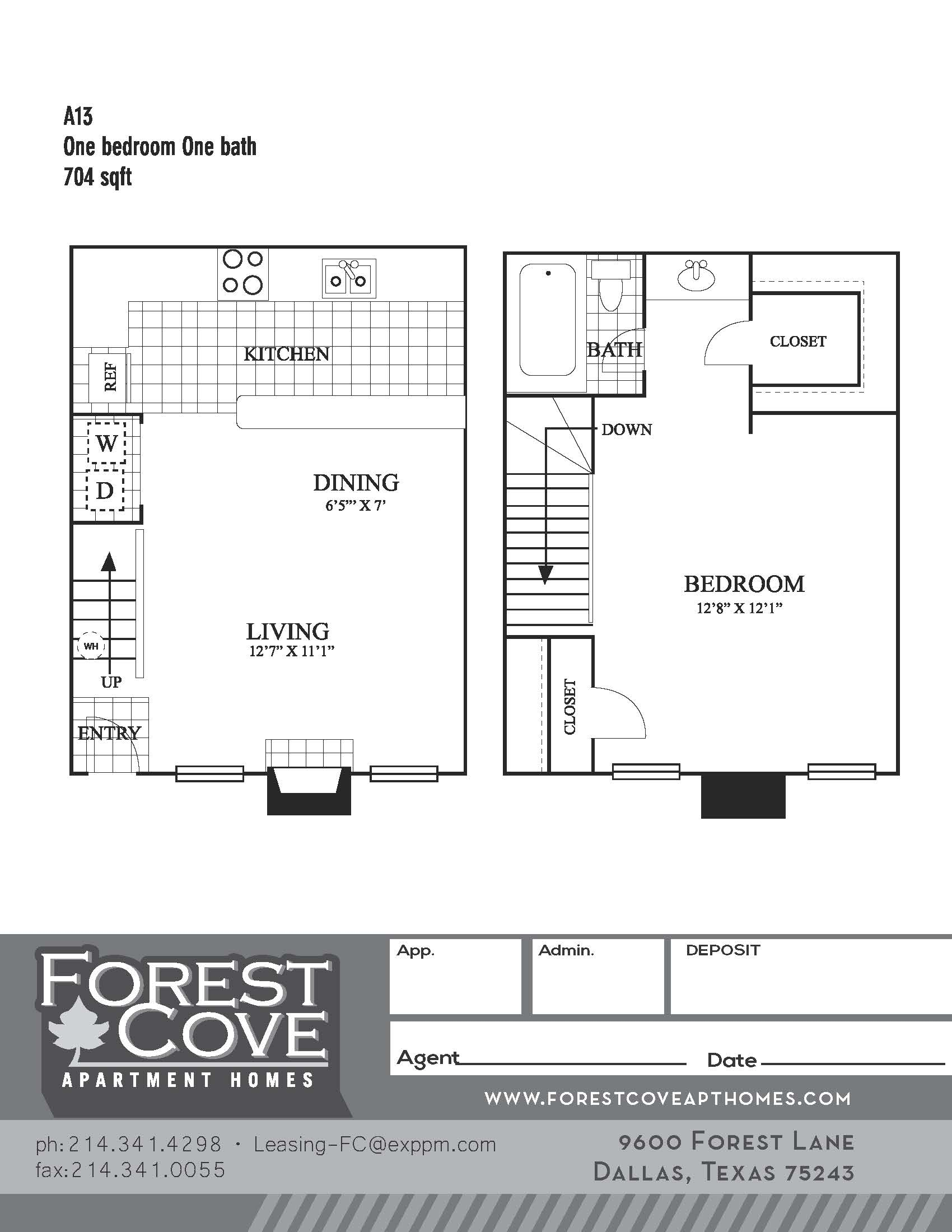 Forest Cove Apartments - Floorplan - A13