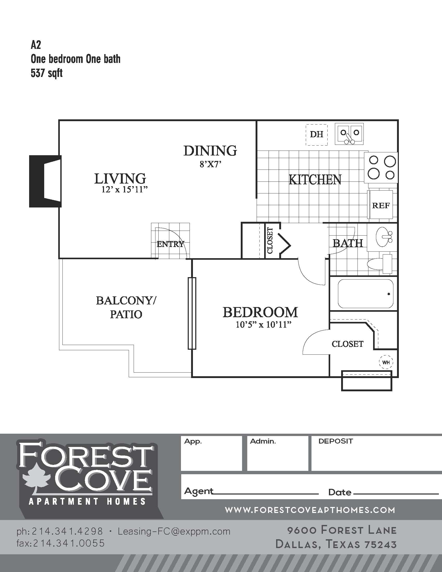 Forest Cove Apartments - Floorplan - A2