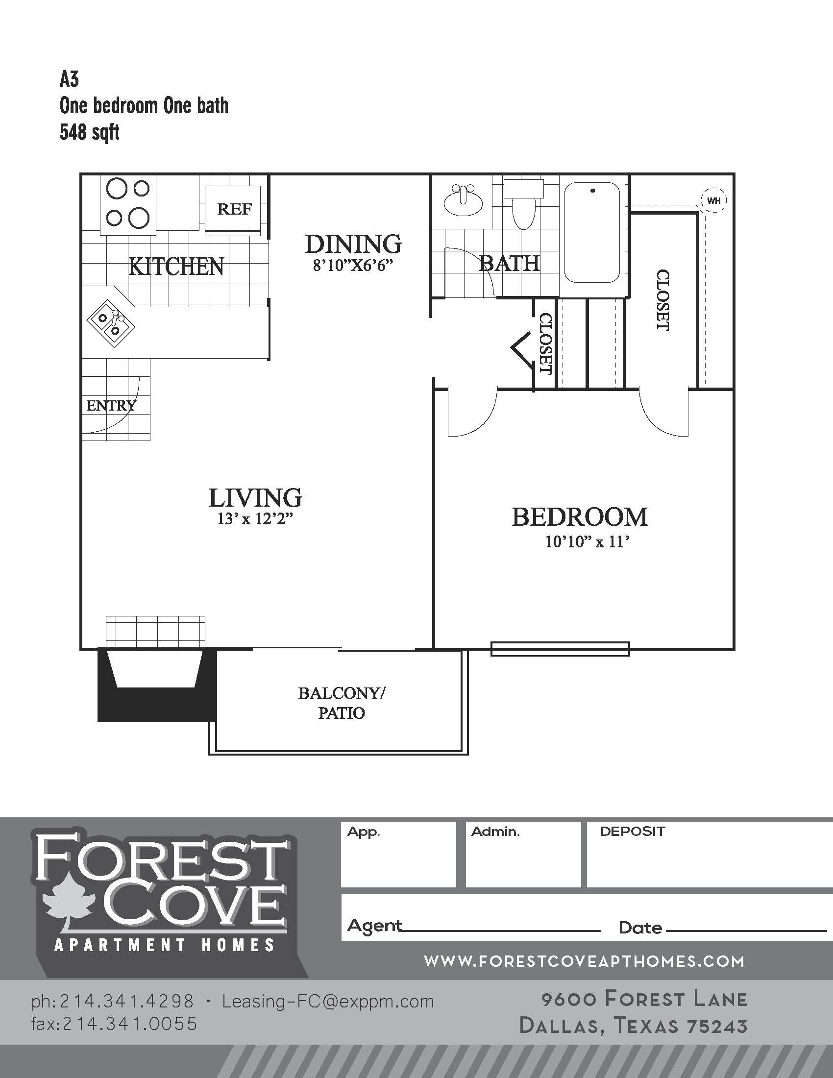 Forest Cove Apartments - Floorplan - A3