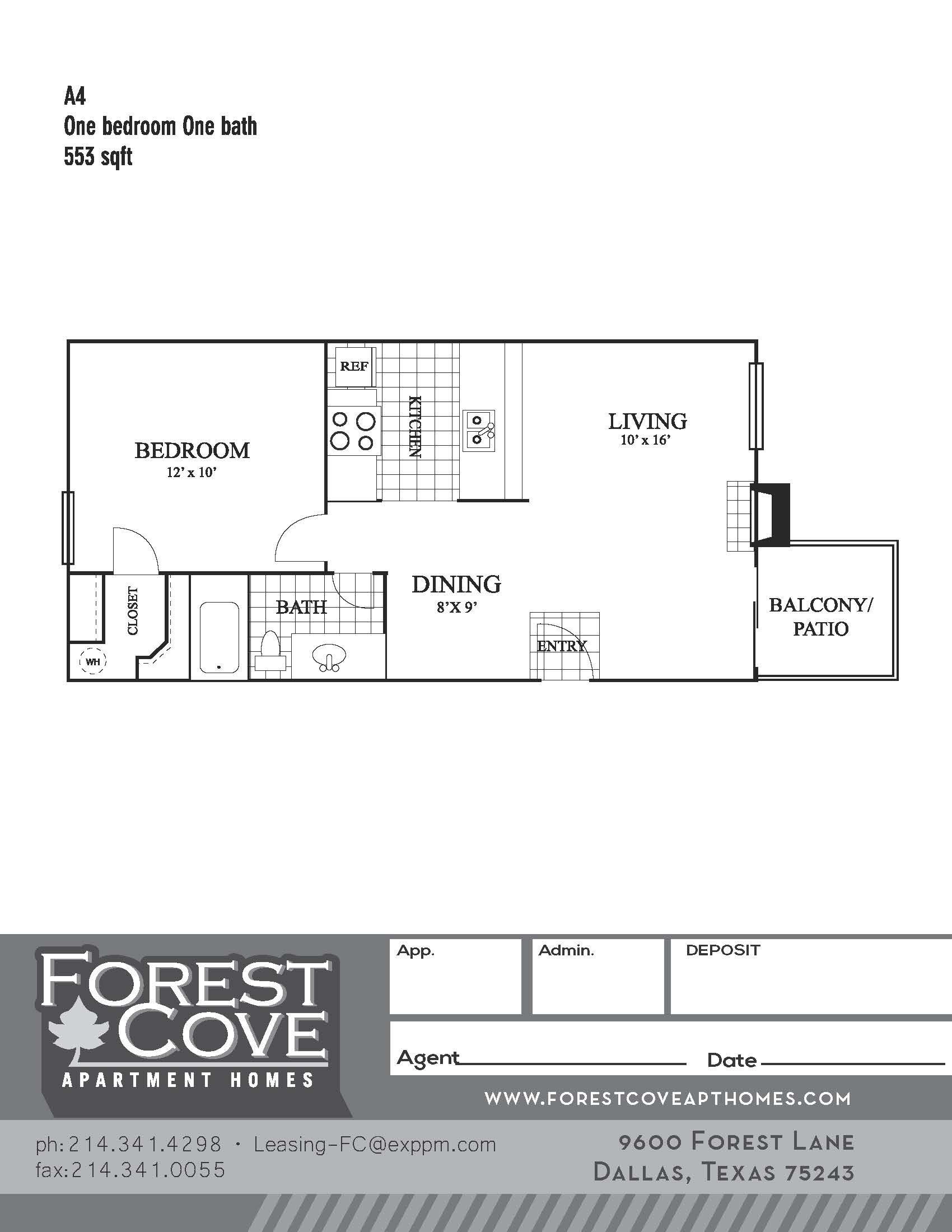 Forest Cove Apartments - Floorplan - A4