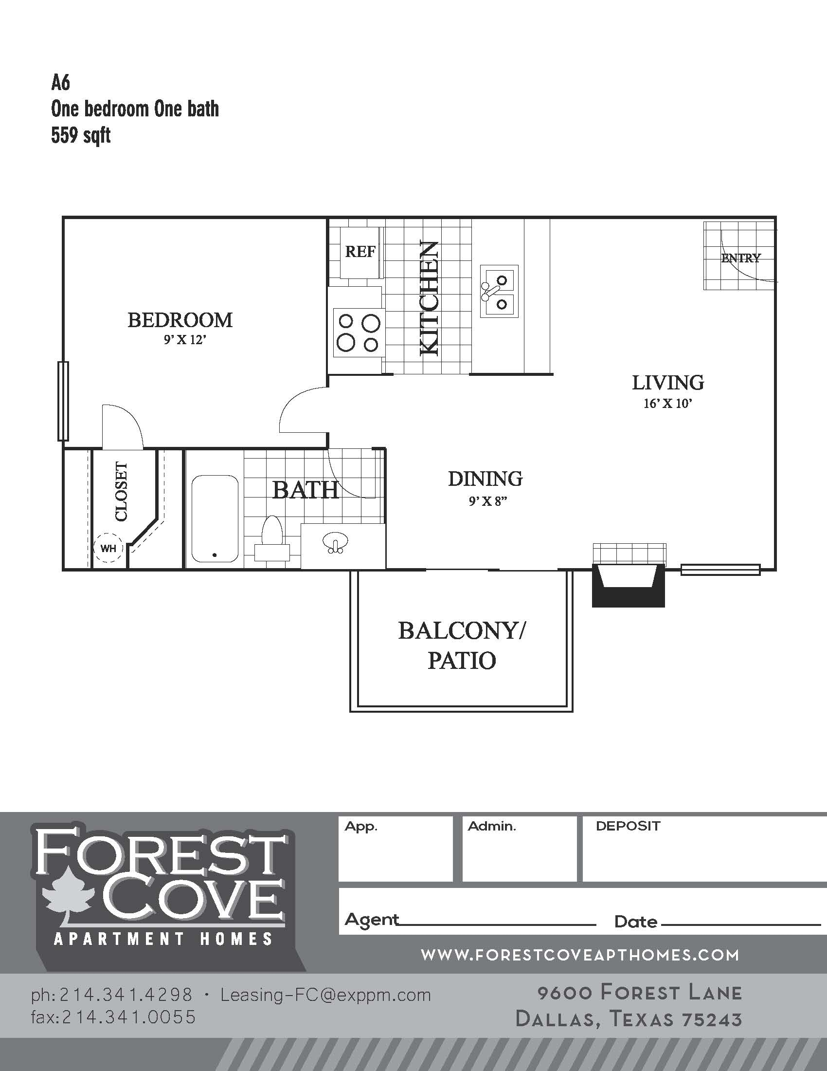 Forest Cove Apartments - Floorplan - A6