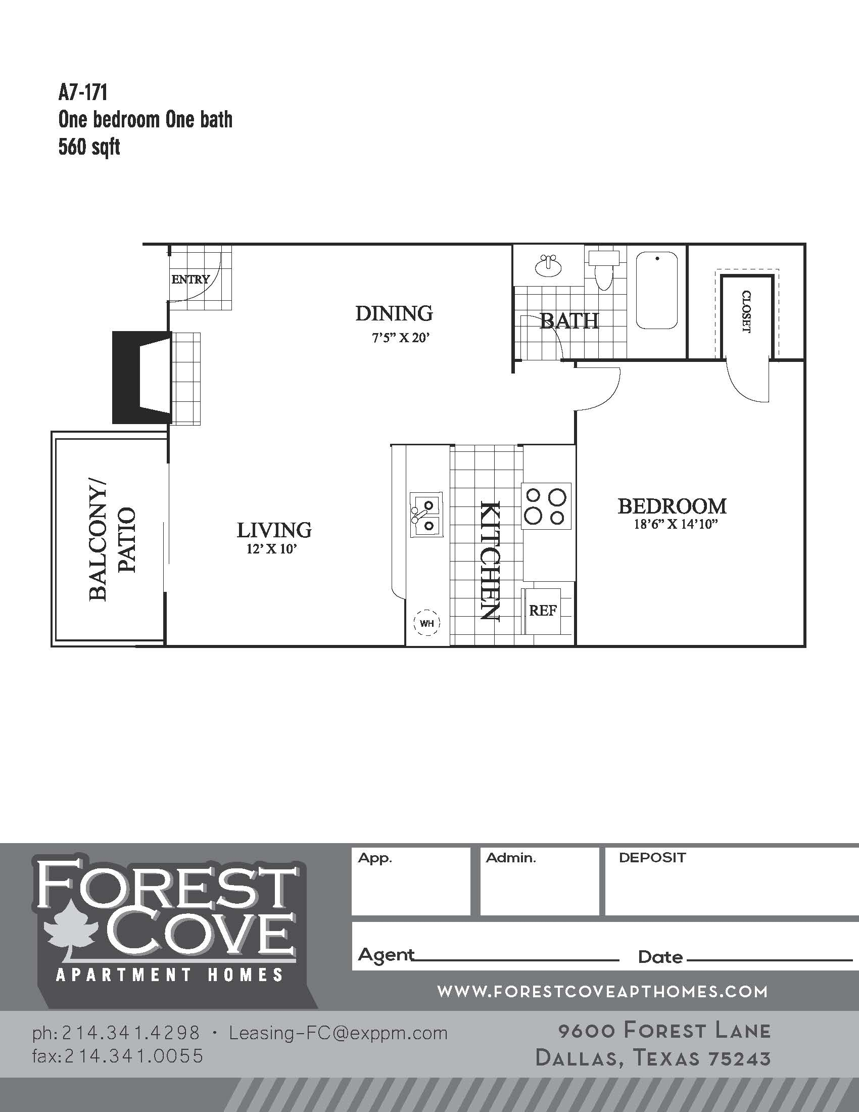 Forest Cove Apartments - Floorplan - A7