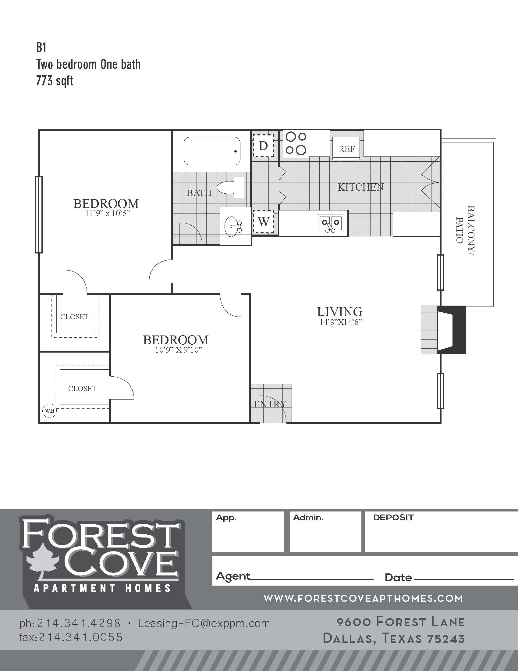 Forest Cove Apartments - Floorplan - B1
