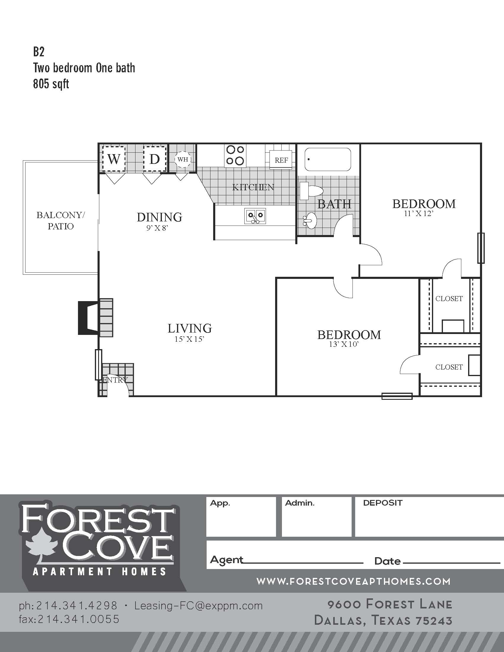 Forest Cove Apartments - Floorplan - B2