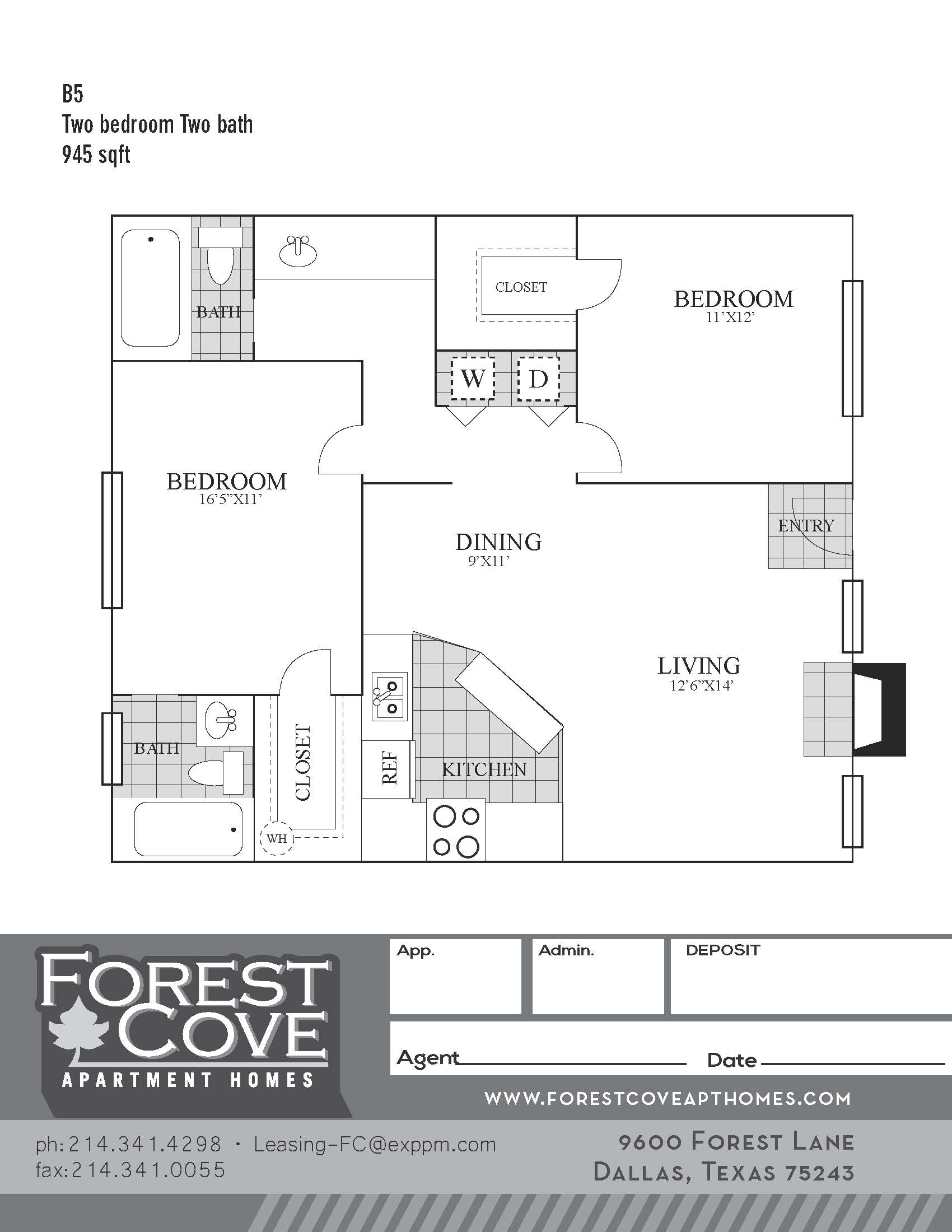 Forest Cove Apartments - Floorplan - B5