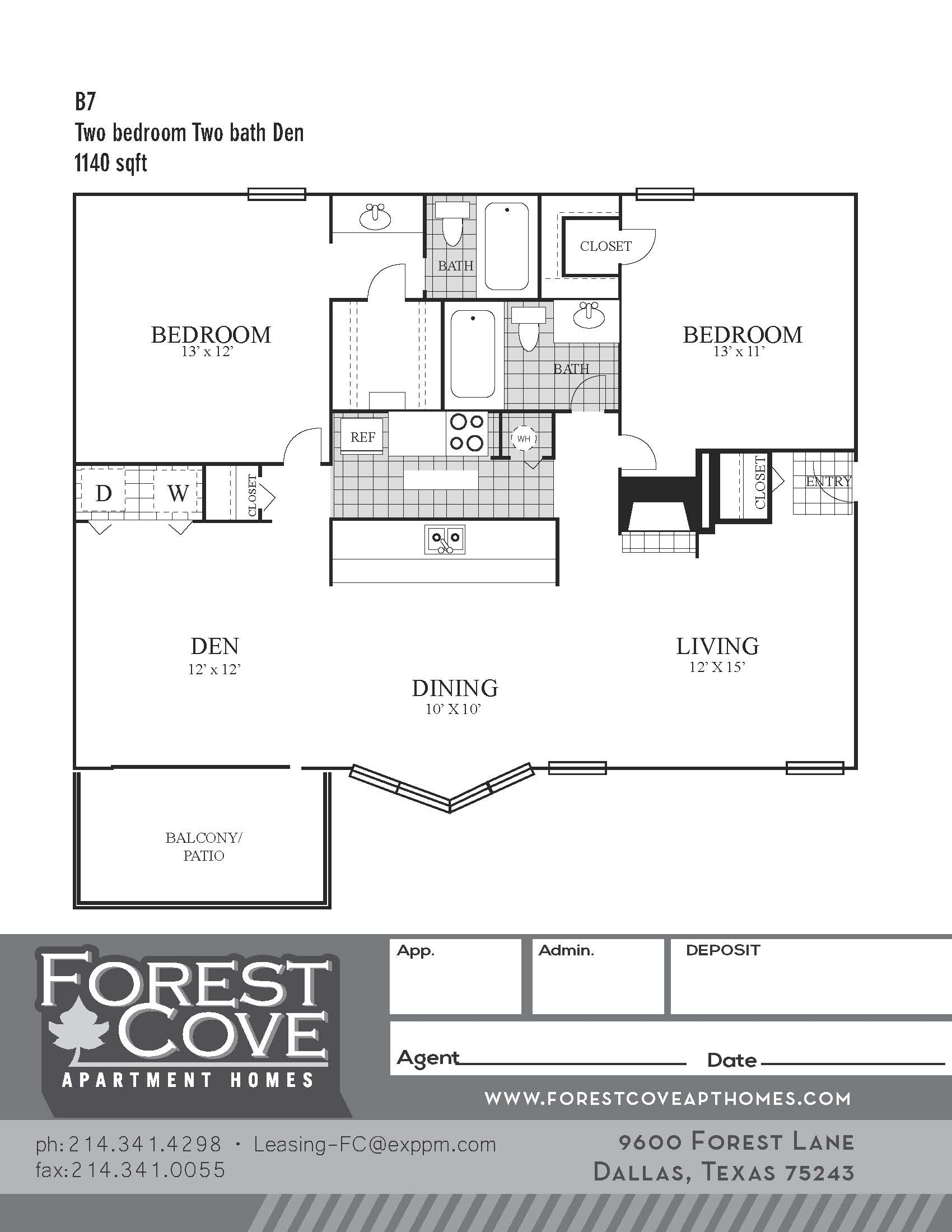 Forest Cove Apartments - Floorplan - B7