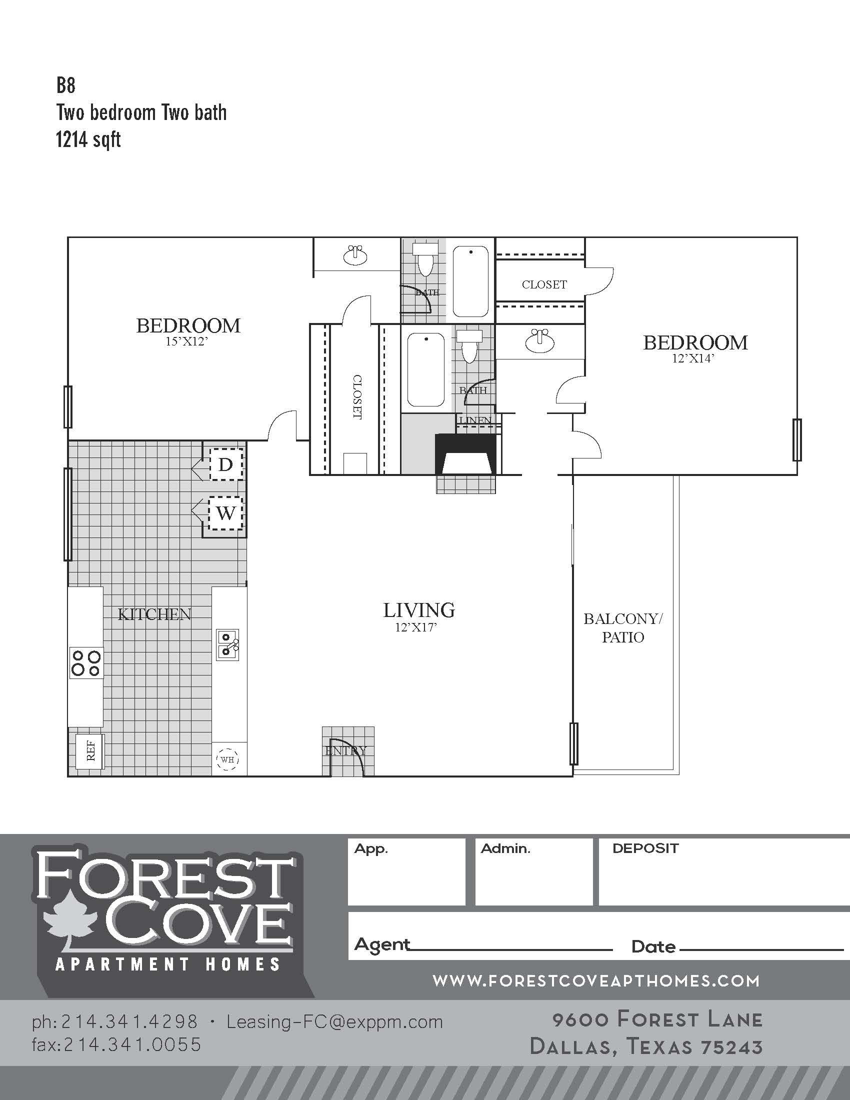 Forest Cove Apartments - Floorplan - B8