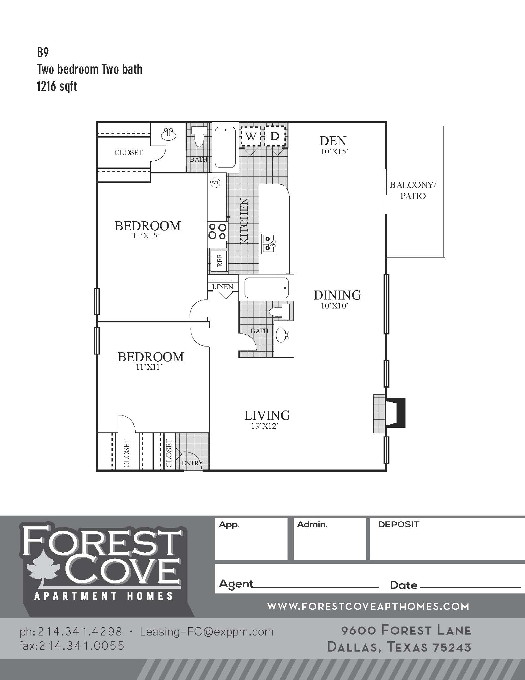 Forest Cove Apartments - Floorplan - B9