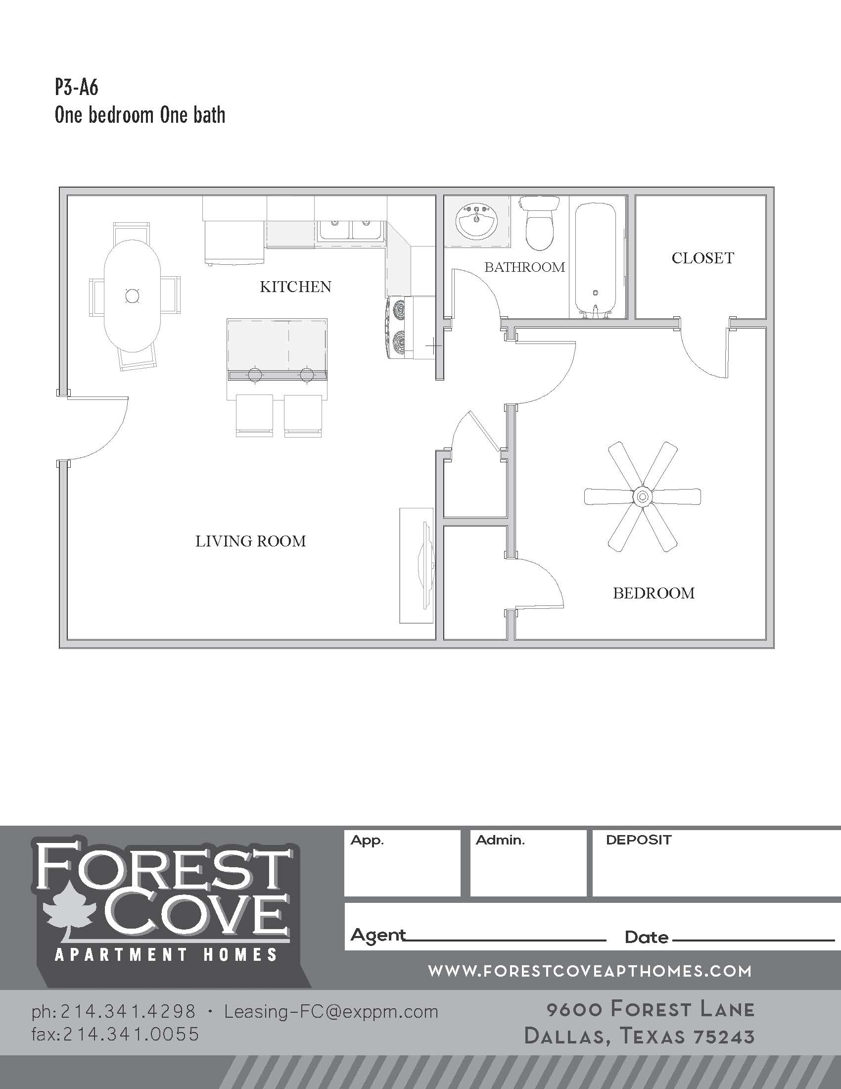 Forest Cove Apartments - Floorplan - 3-A6