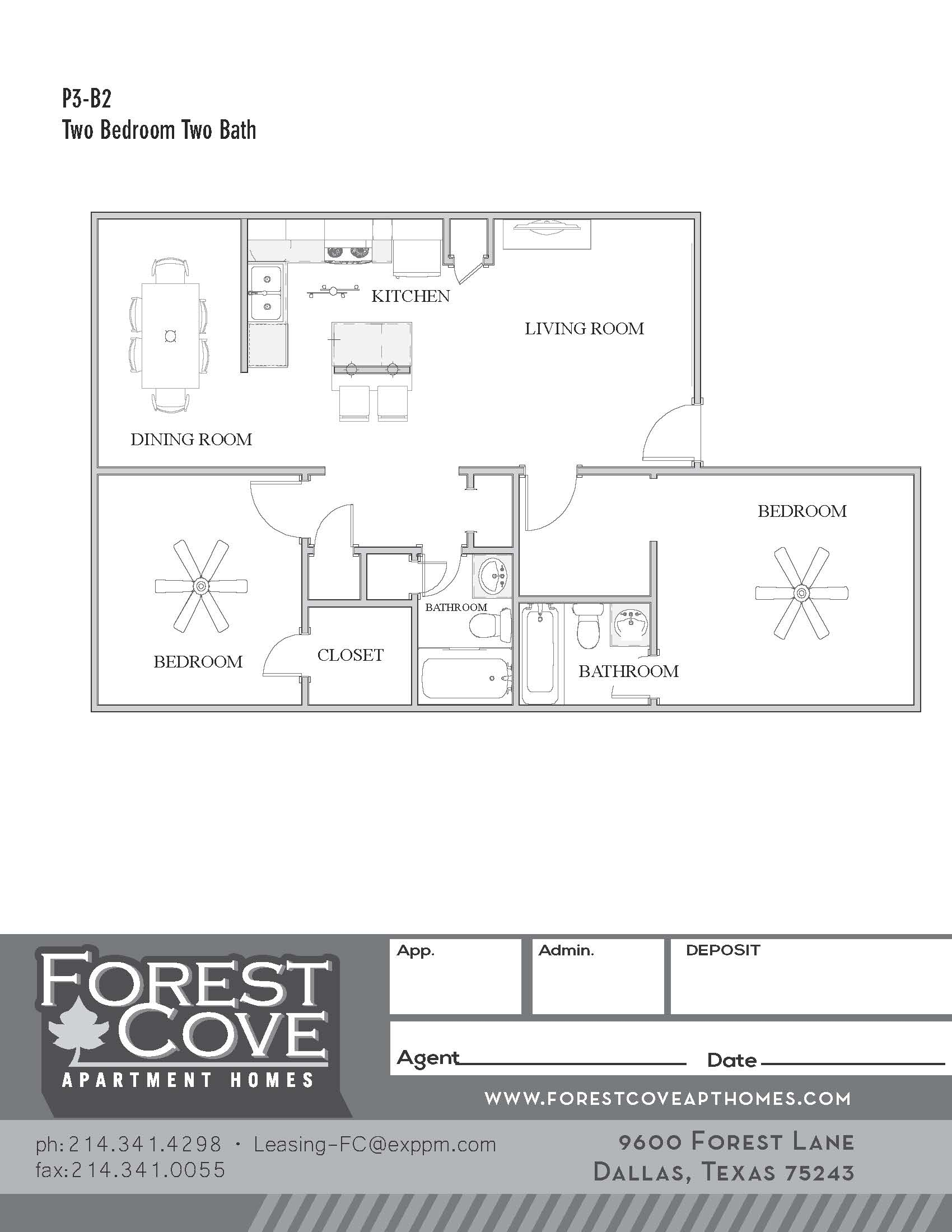 Forest Cove Apartments - Floorplan - 3-B2