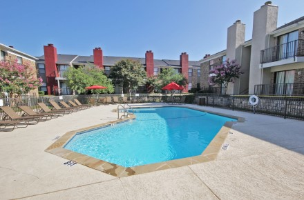 Sparkling Swimming Pool at Forest Cove Apartments in Dallas, Texas