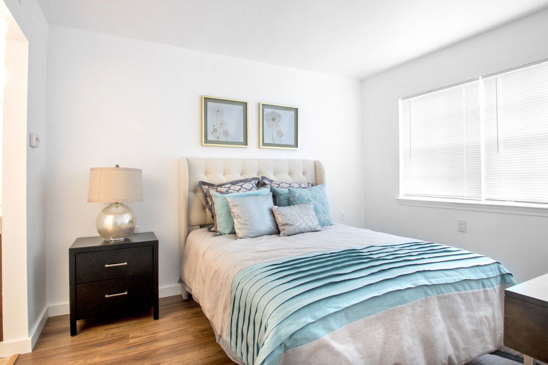 Bedrooms at Forest Dale Senior Apartments in Dallas, Texas