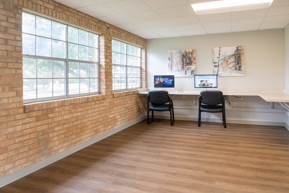 Business Center at Forest Dale Apartments in Dallas, Texas