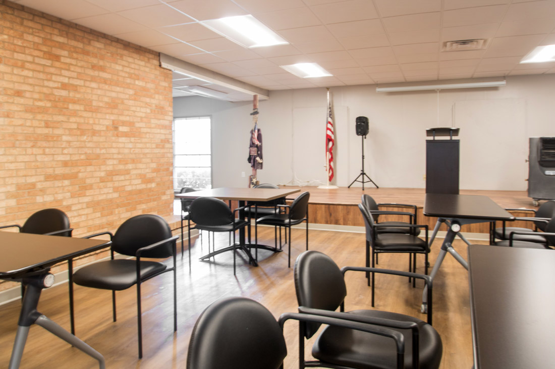 Community Stage Room at Forest Dale Apartments in Dallas, Texas