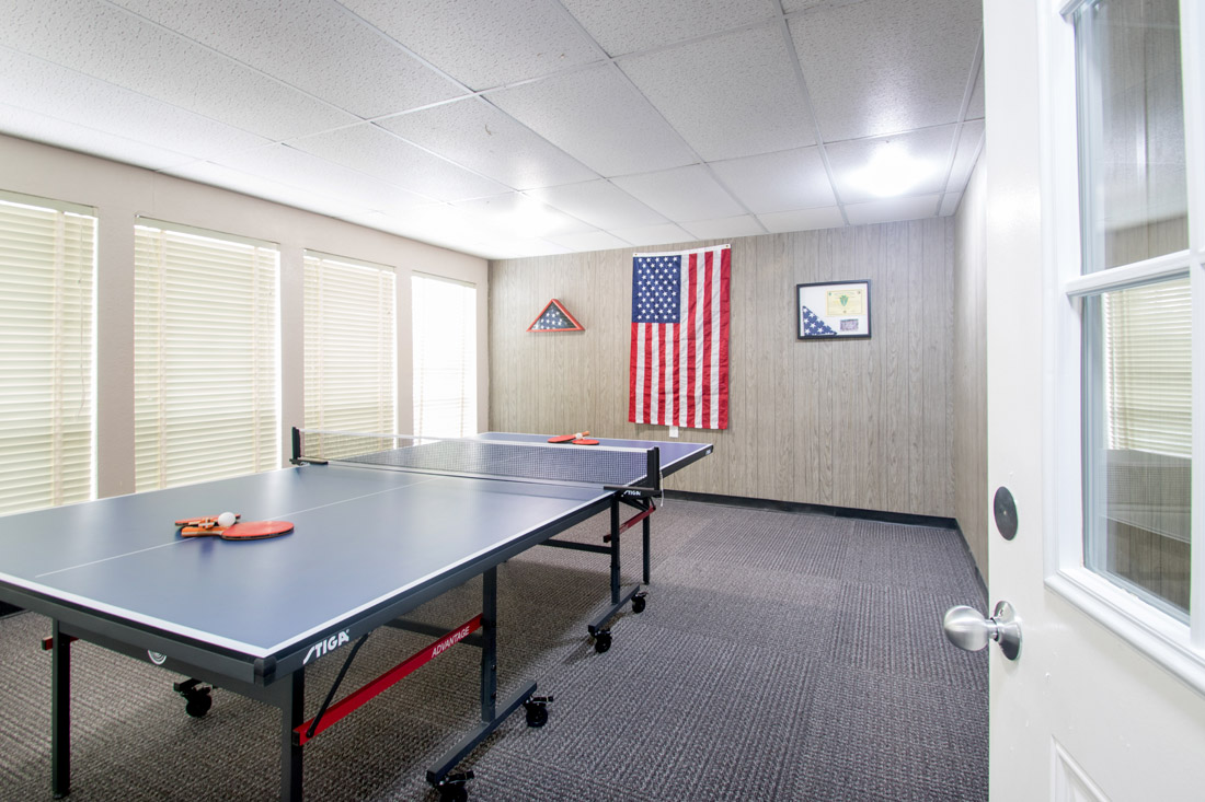 Game Room with Ping Pong at Forest Dale Apartments in Dallas, Texas
