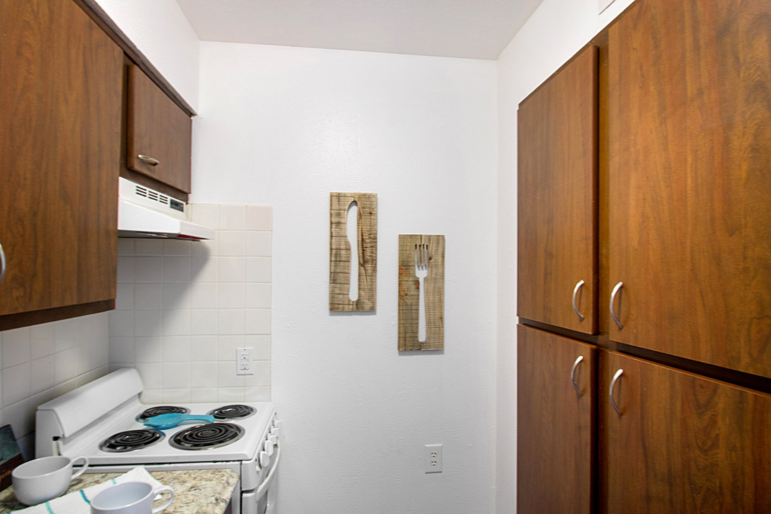 Kitchens at Forest Dale Senior Apartments in Dallas, Texas