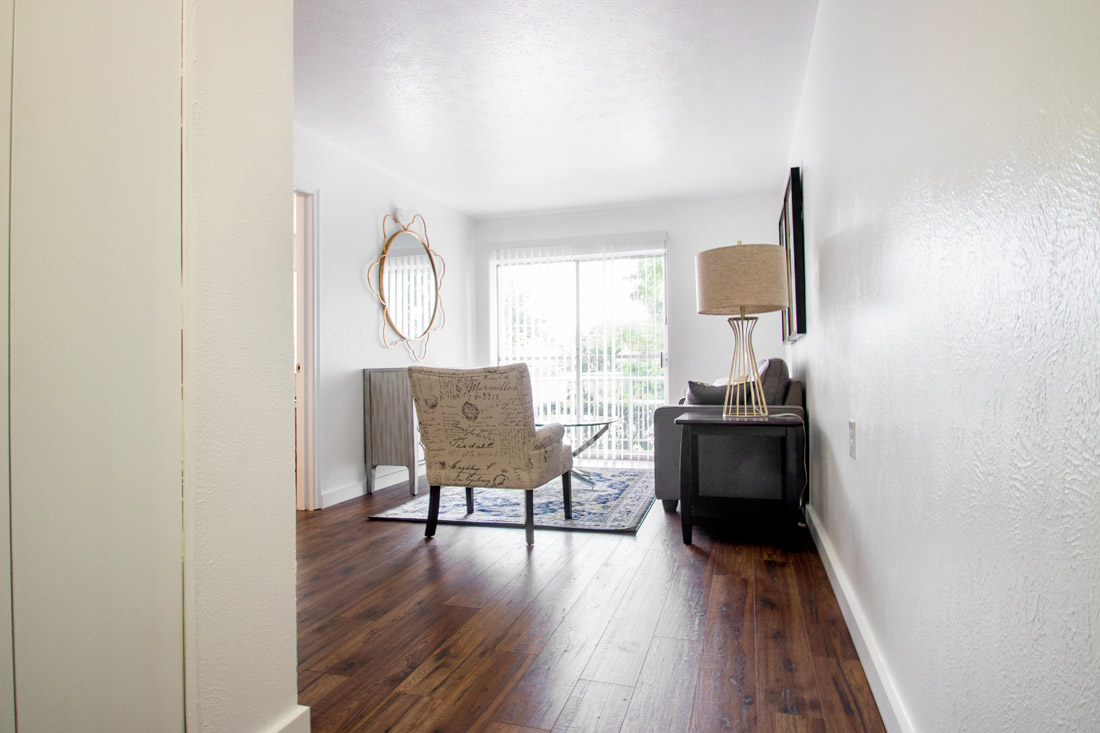 Living Rooms at Forest Dale Senior Apartments in Dallas, Texas