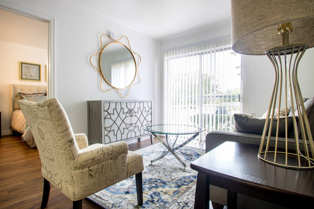 Spacious Living Rooms at Forest Dale Senior Apartments in Dallas, Texas