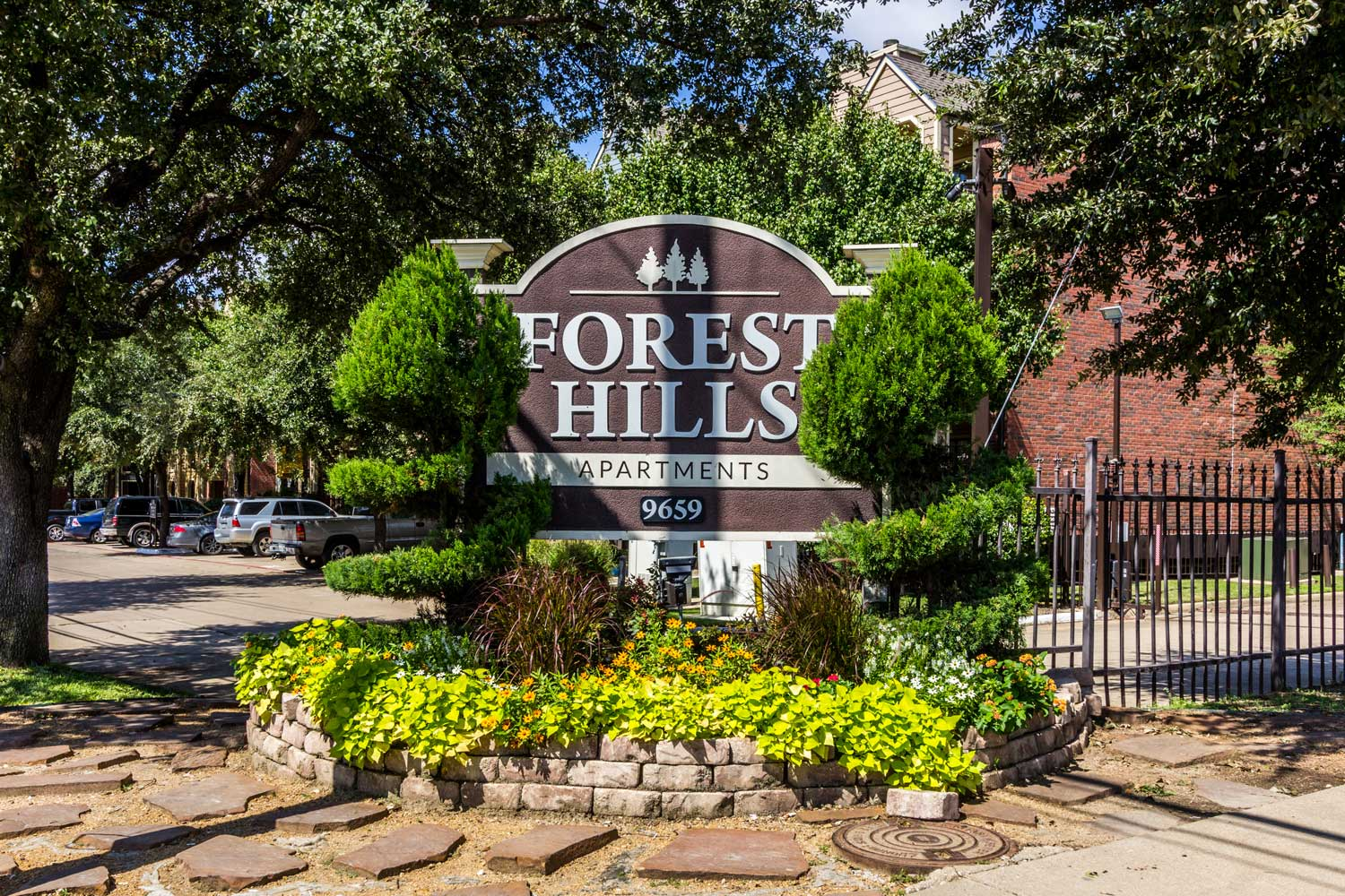 Property Signage at Forest Hills Apartments in Dallas, TX