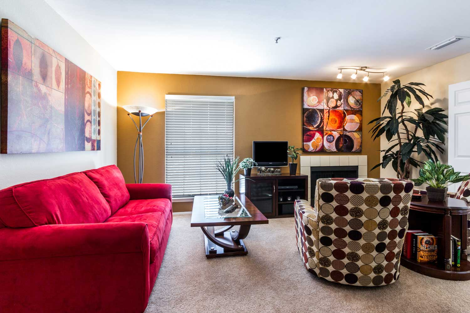Open Living Areaat Forest Hills Apartments in Dallas, TX