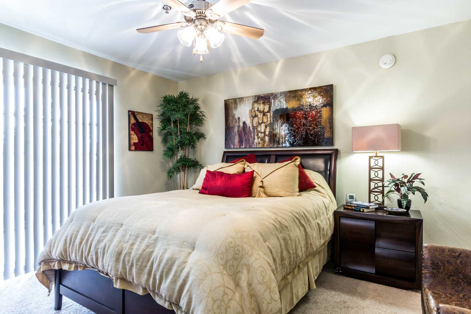 Cozy Bedroomsat Forest Hills Apartments in Dallas, TX