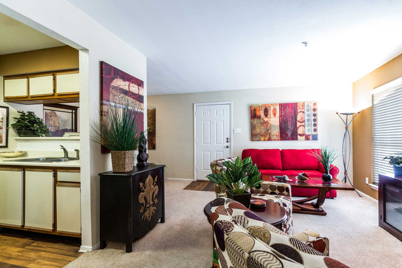 Open Floor Planat Forest Hills Apartments in Dallas, TX