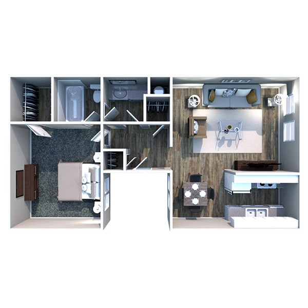 The Heights on Forty4 - Floorplan - A2