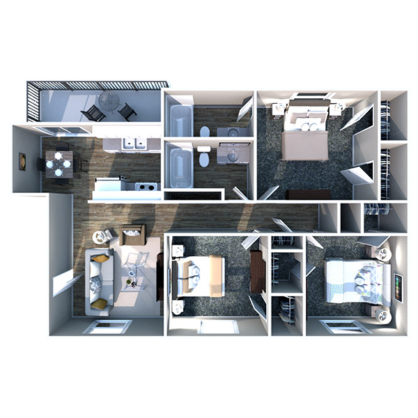 The Heights on Forty4 - Floorplan - C1