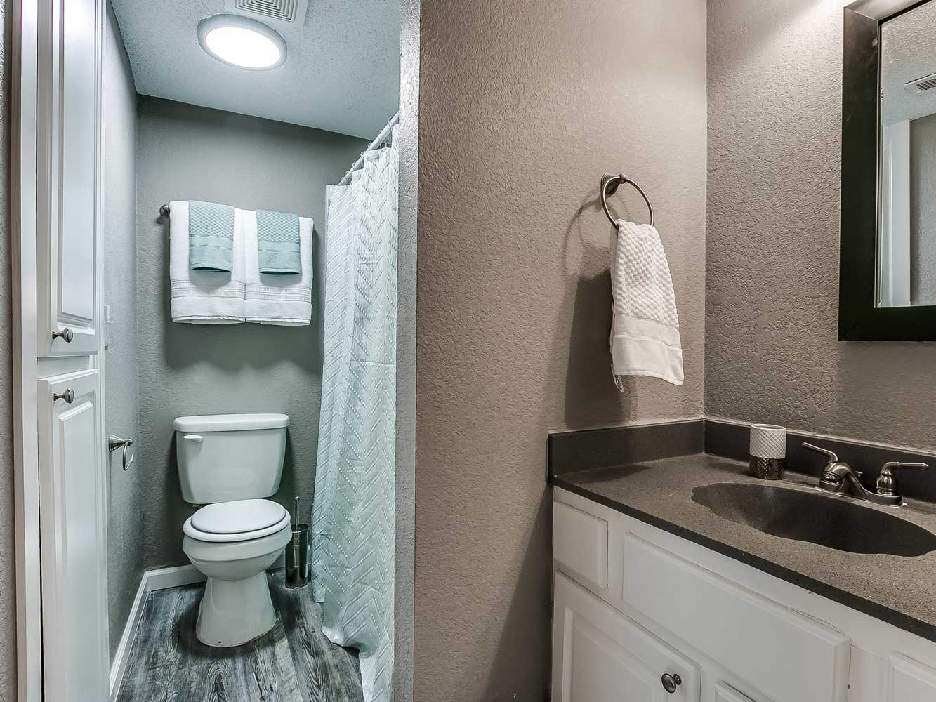 Bathroom at The Heights on Forty4 at Oklahoma City, OK