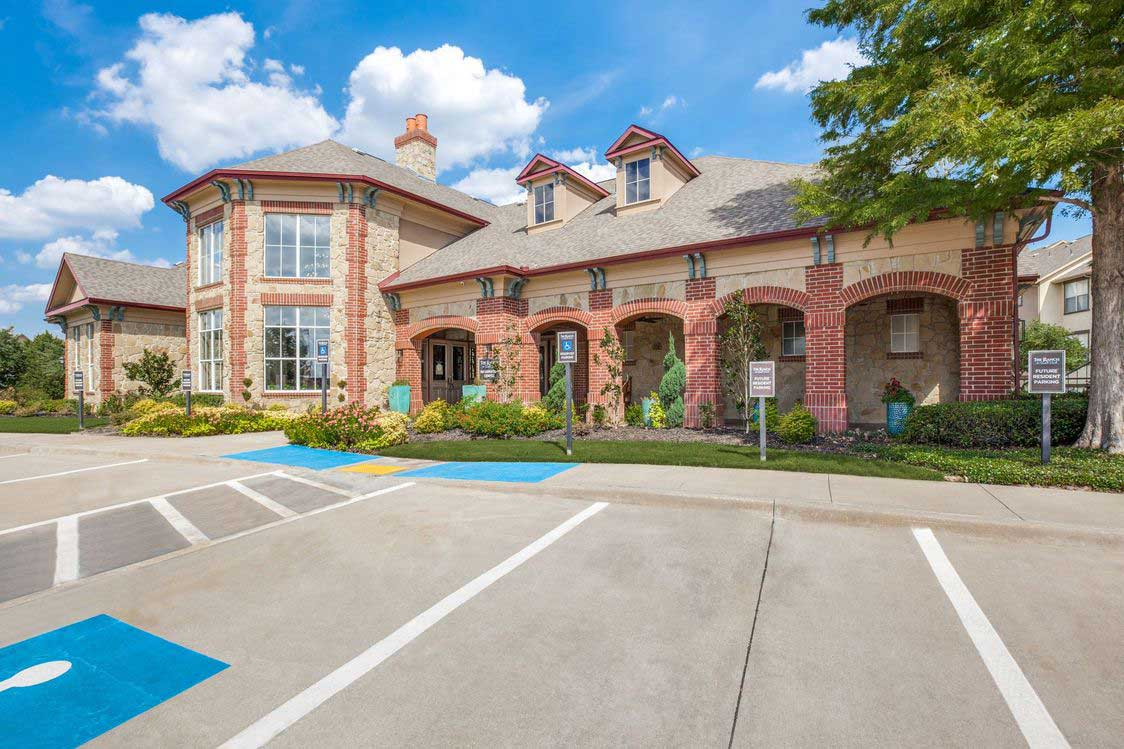 Ample Parking at The Ranch at Fossil Creek Apartments in Haltom City, TX