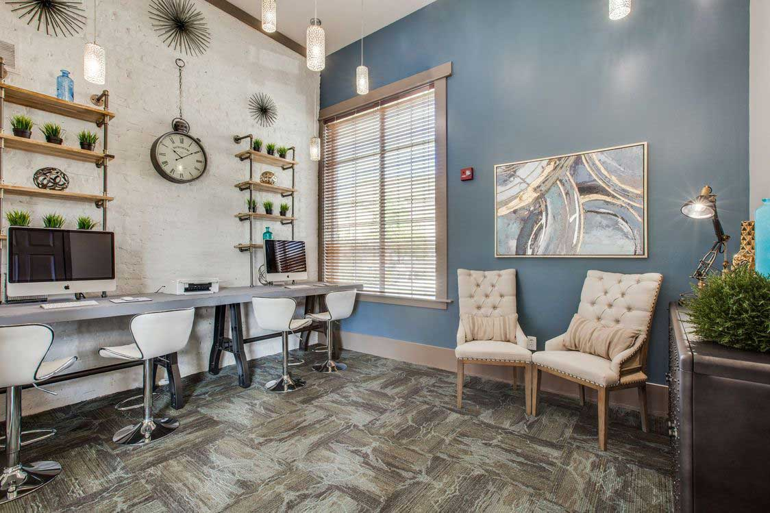 Stylish Interiors at The Ranch at Fossil Creek Apartments in Haltom City, TX