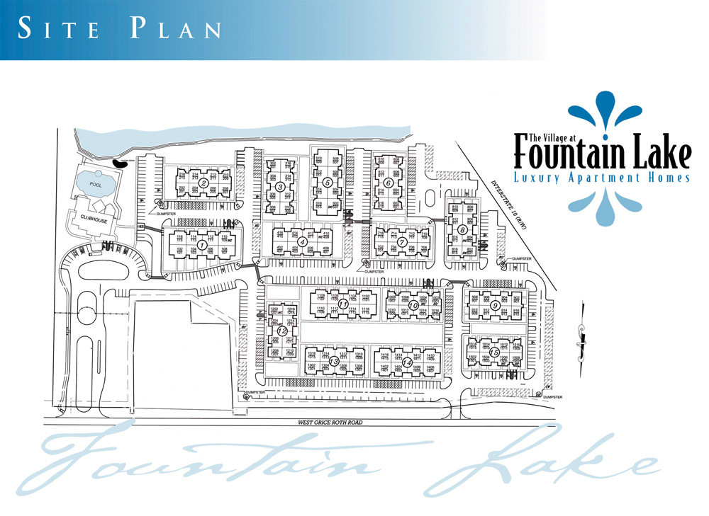 Village at Fountain Lake Site Plan