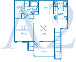 Village at Fountain Lake - Floorplan - A2