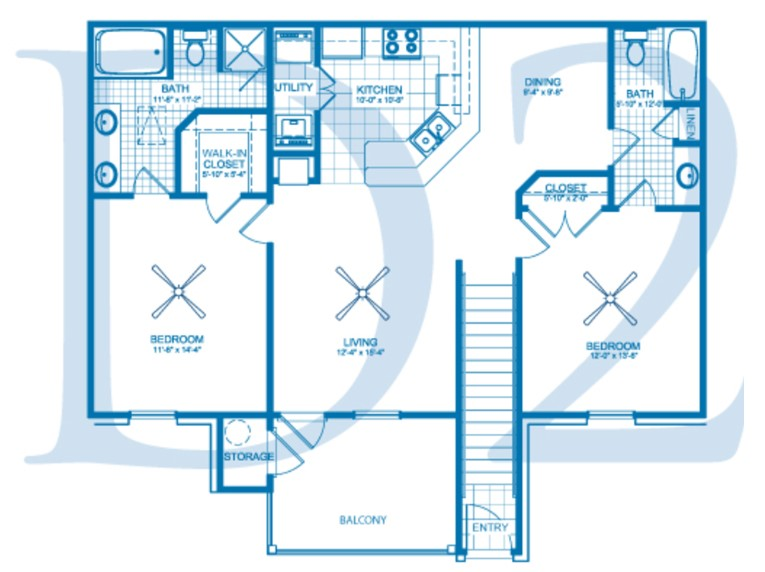 Village at Fountain Lake - Floorplan - D2
