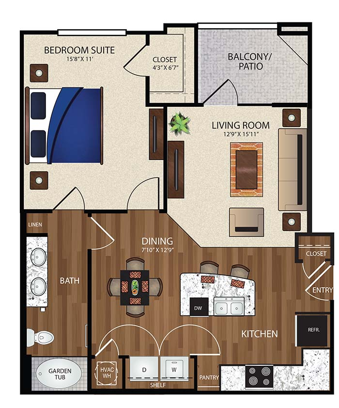 The Reserve at Fountainview - Floorplan - A1