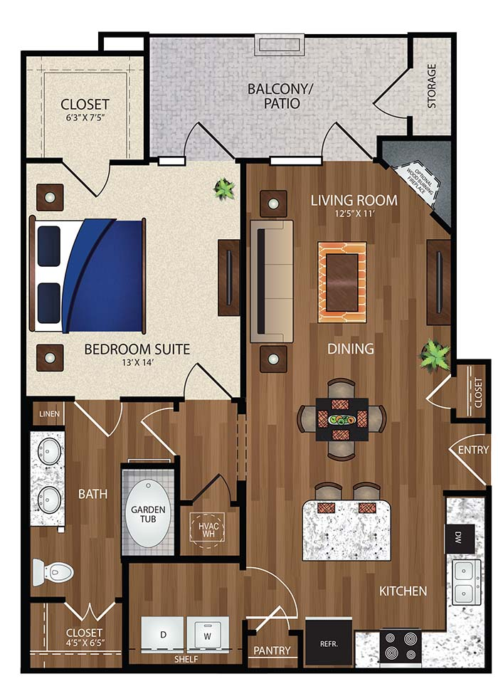 The Reserve at Fountainview - Floorplan - A2