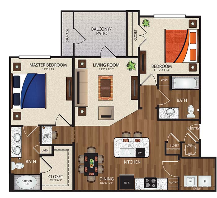 The Reserve at Fountainview - Floorplan - B1