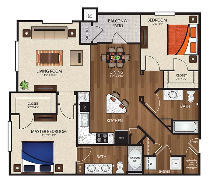 The Reserve at Fountainview - Floorplan - B2