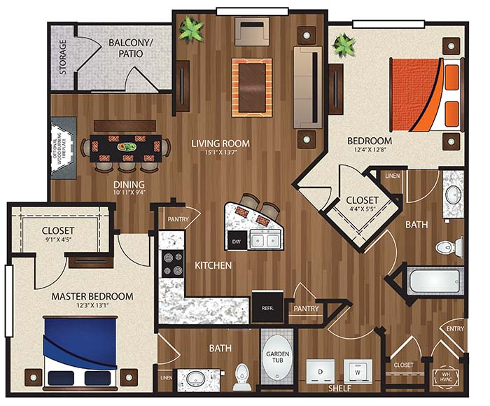 The Reserve at Fountainview - Floorplan - B3