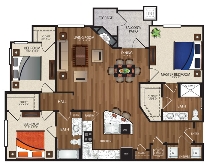 The Reserve at Fountainview - Floorplan - C1