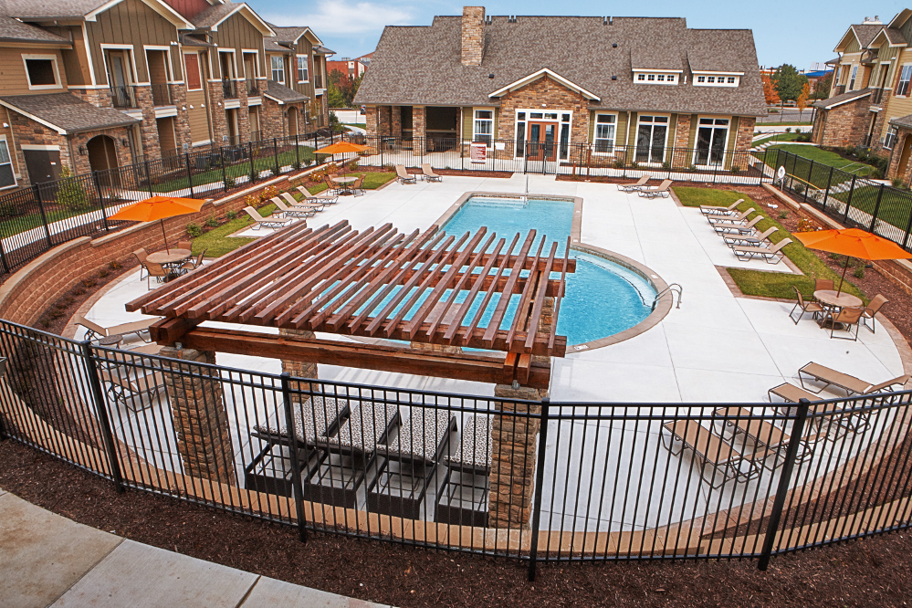 Sparkling Pool at the Reserve at Fountainview Apartments in Saint Charles, MO