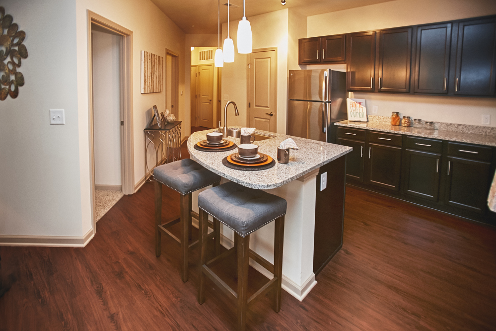 Kitchen at the Reserve at Fountainview Apartments in Saint Charles, MO