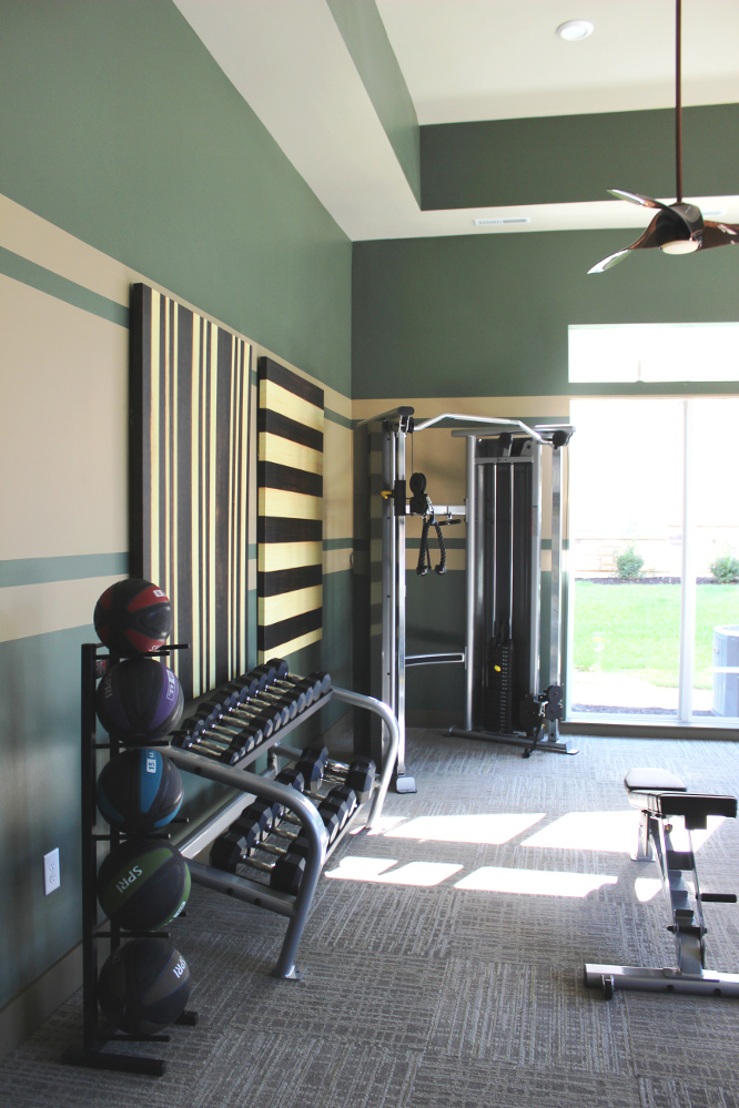 Fitness Center at the Reserve at Fountainview Apartments in Saint Charles, MO
