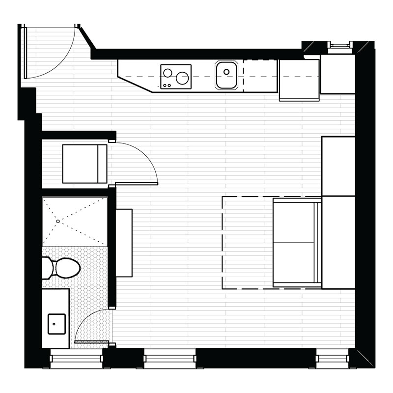 Floorplan - Studio - G image