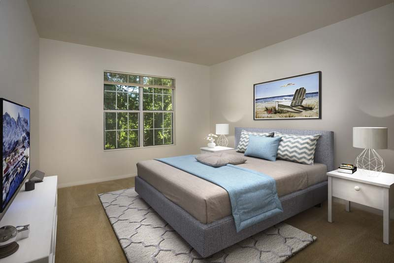 Private bedroom at Gateway Square Apartments in Temple Hills, MD